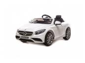 Радиоуправляемый детский электромобиль Mercedes-Benz S63 AMG 12V цвет белый Harleybella HL169-W