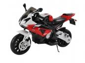 Детский электромобиль мотоцикл BMW S1000PR на аккумуляторе 12V цвет красный Jiajia JT528-red