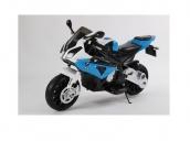 Детский электромобиль мотоцикл BMW S1000PR на аккумуляторе 12V цвет синий Jiajia JT528-blue