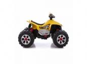 Детский электромобиль квадроцикл на аккумуляторе 12V цвет желтый Jiajia JS318-yellow