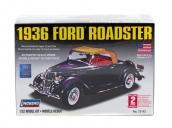 Склеиваемая пластиковая модель автомобиля Hawk Lindberg 1936 Ford Convertible Roadster 1:32