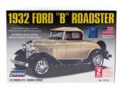 """Склеиваемая пластиковая модель автомобиля Hawk Lindberg 1932 Ford """"B"""" Roadster 1:32"""