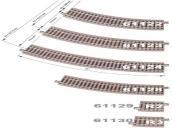 61123 ROCO Радиусный рельс R3 ( 434,5 мм. 30° )