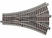 61160 ROCO Трёхпутевая стрелка DWW 200 мм. 2 х 22,5°