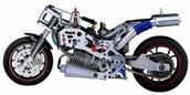 6301-F072A2 THUNDER TIGR Радиоуправляемая модель мотоцикла FM1n DESMOSEDICI с ДВС