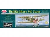 Склеиваемая деревянная модель аэроплана Guillows Thomas Morse Scout 1:12