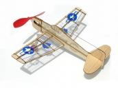 Склеиваемая деревянная модель самолета Guillows U.S. Hellcat