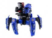 Радиоуправляемый боевой робот-паук Keye Toys Space Warrior (лазер, диски) 2.4GHz (синий) + АКК и ЗУ