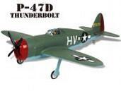 4334-K21 Thunder Tiger Радиоуправляемый самолет P-47-D с двигателем